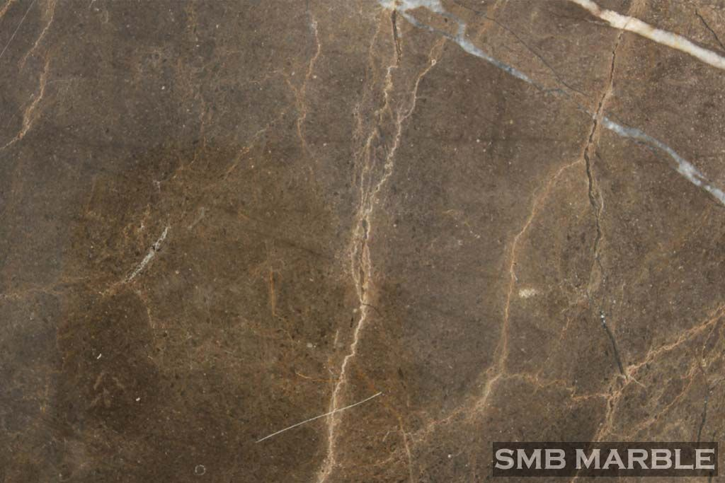 Coffee Brown Marble Price Gold Wallpaper
