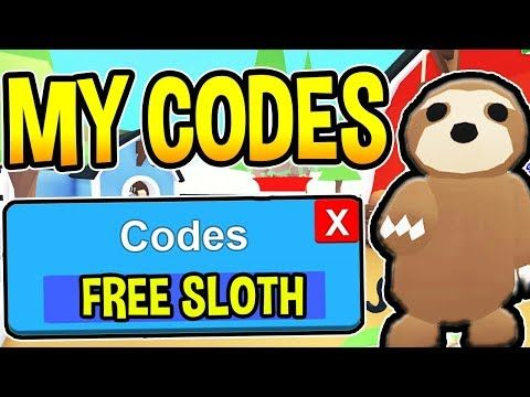 ADOPT ME CODES 2019 NEW FREE SLOTH Update Roblox in