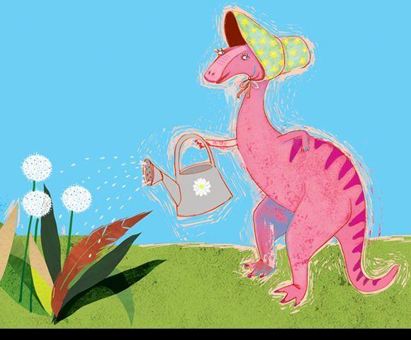 Dinosaurs - Javier Joaquin #dinosaur #gardening #childrensbook #illustration