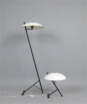 Louis Kalff, set of standard lamp + table lamp for Philips