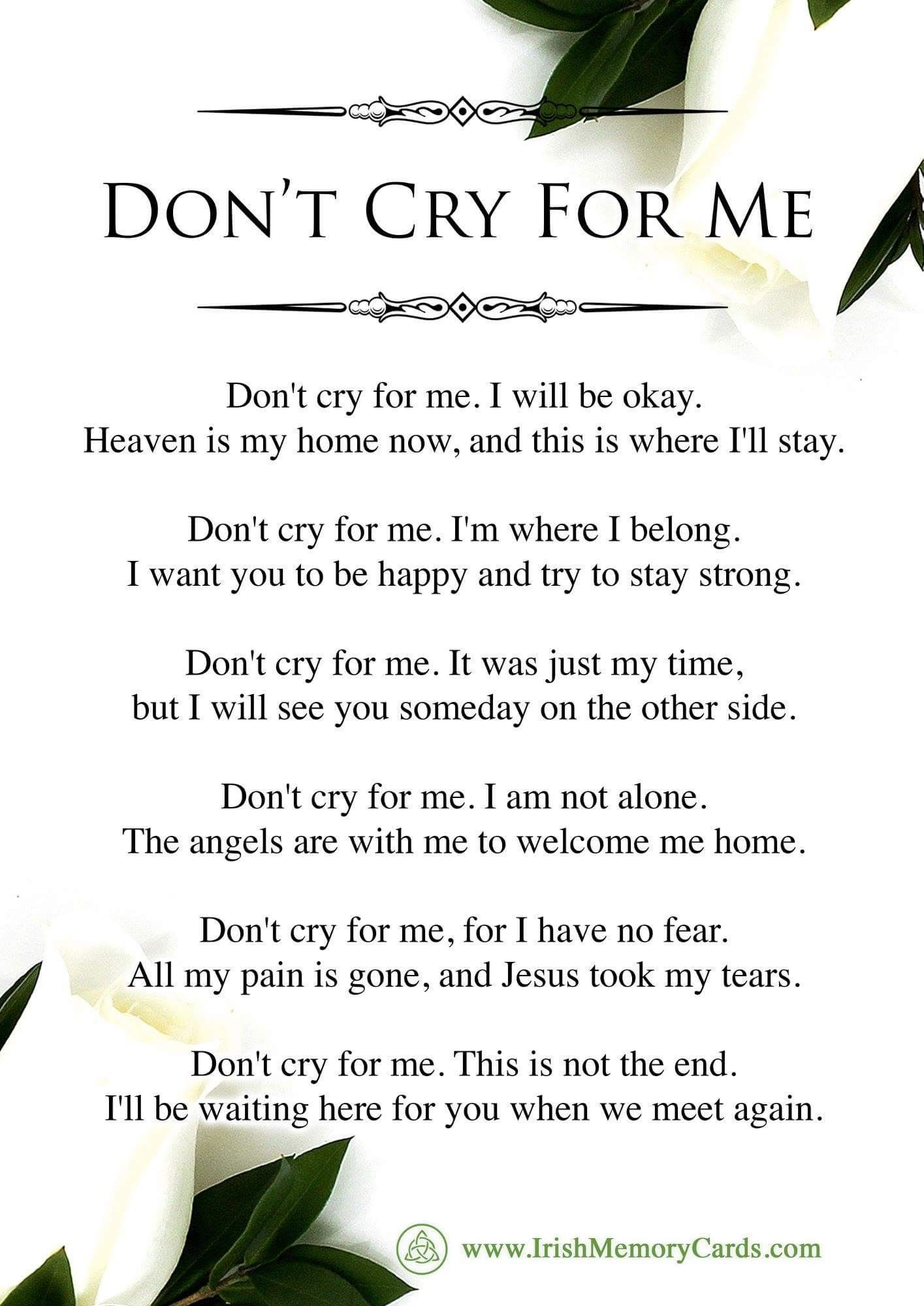 Pin by frances leedy on sayings pinterest crying grief and poem rip izmirmasajfo
