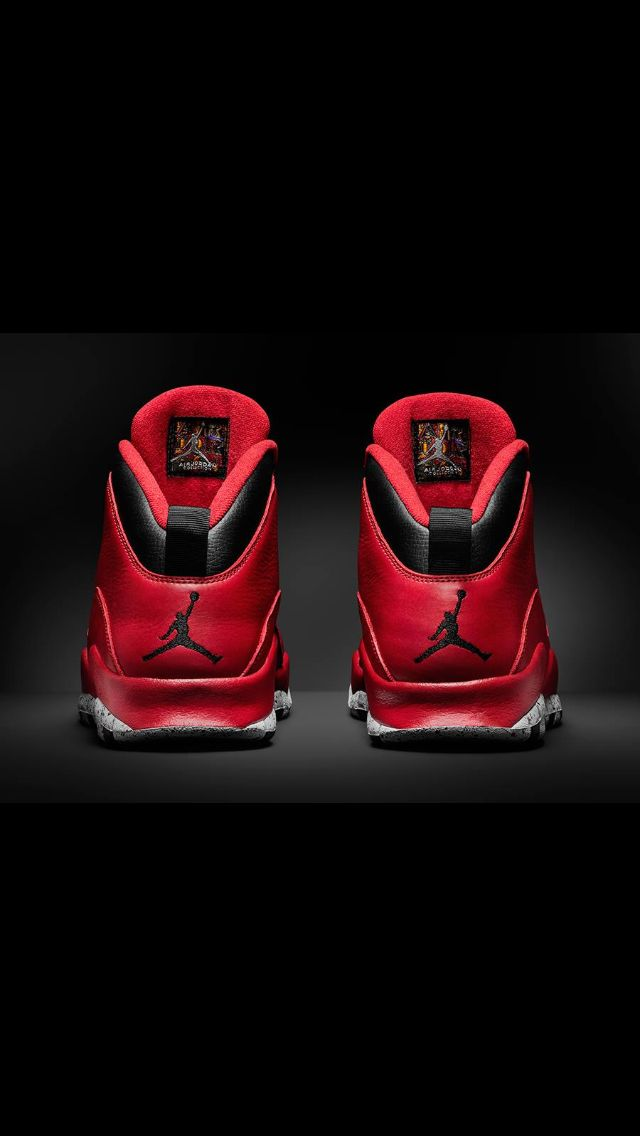size 40 1ce63 25b8f Rear view Jordan 10, Sneaker Brands, Air Jordan Shoes, Shoe Collection,  Cement
