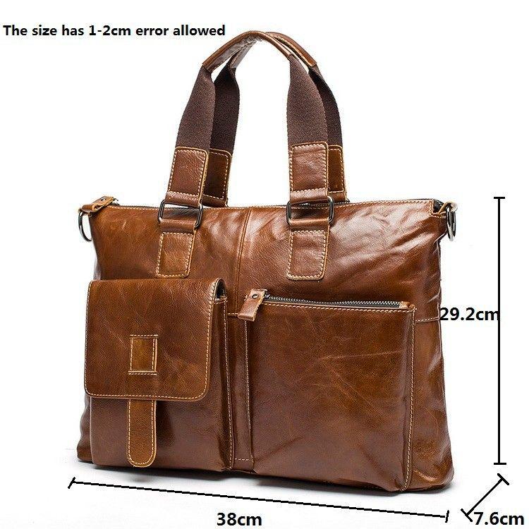 c8e0d1835330 Новый бренд бизнеса сумки из натуральной кожи портфель портфель мода для  мужчин мешки плечевой ремень ноутбук