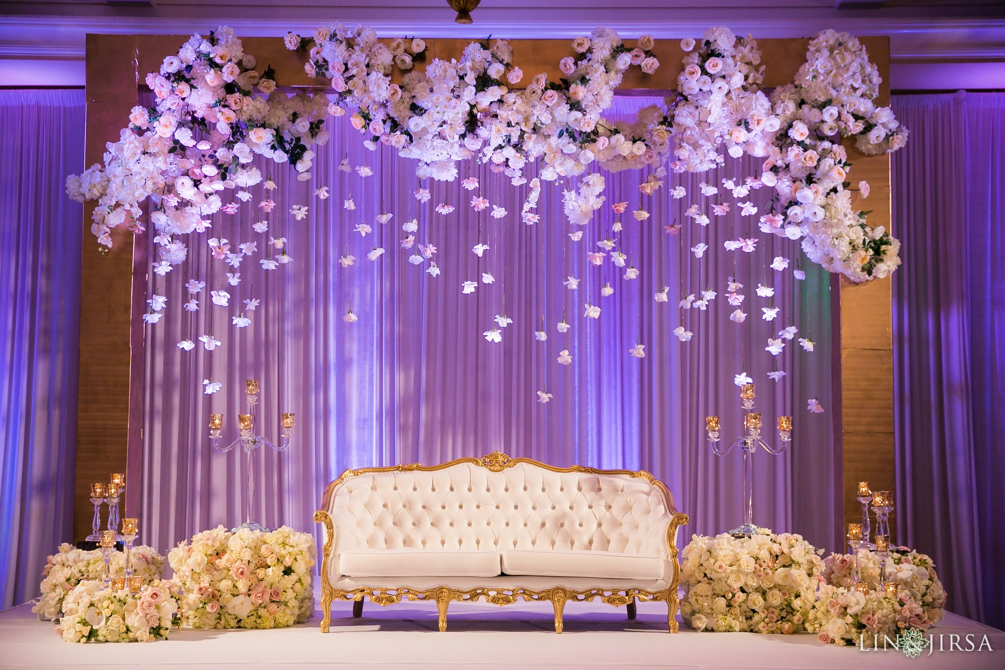 Lavender dreams! Enchanting lavender drapes form the backdrop of this  lovely and refre… | Wedding stage decorations, Wedding stage design, Wedding  design decoration