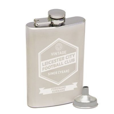 Personalised Leicester City Vintage Hip Flask #LeicesterCity #FootballGifts £29.95