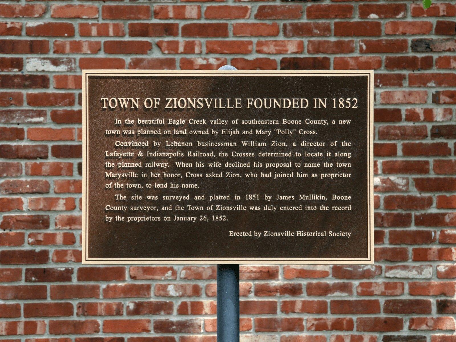 Village Of Zoinsville Zionsville Zionsville Indiana Indiana