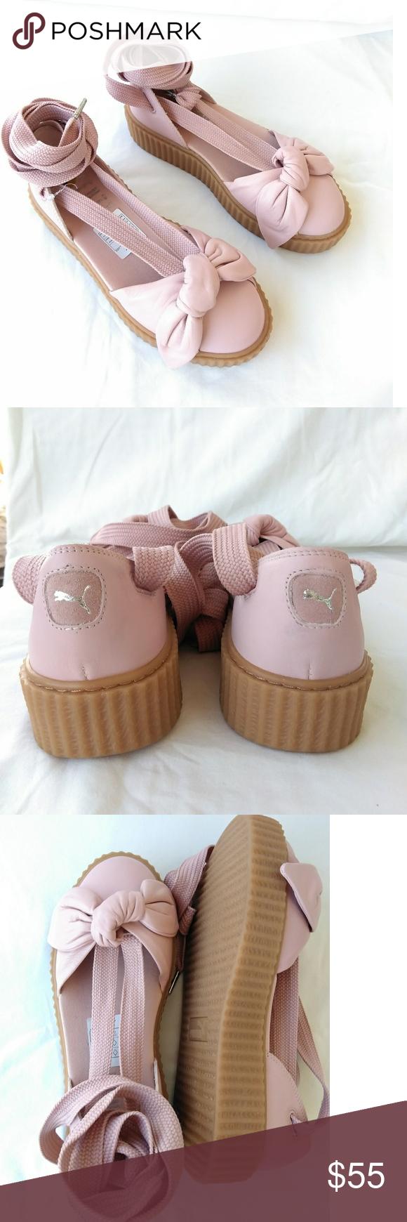 d298eecc390 Fenty PUMA by Rihanna bow creeper sandals Brand new blush pink sandals.  Size 8 Puma