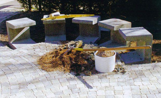 Halbrunde Gartenbank Selbst De Garten Shabby Chic Garten Garten Design