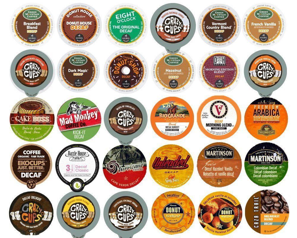 Decaf Coffee Variety Sampler Pack for Keurig KCup Brewers