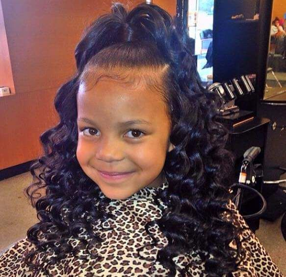 This Is A Really Cute Style For A Little Girl Ninie Stylish Black Kids Hairstyles Little Girl Hairstyles Lil Girl Hairstyles