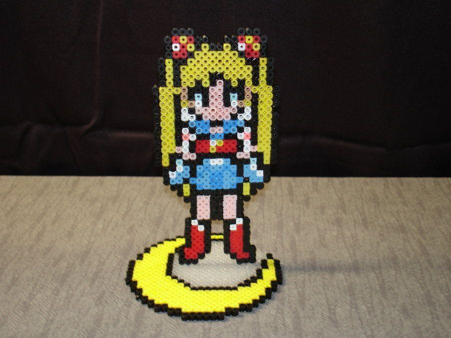SailorMoon perler beads by Tazzcrazzy on deviantart
