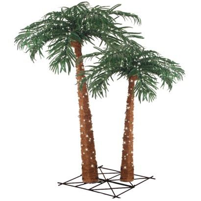 Outdoor Palm Tree Light Lighted natural palm tree set with 400 clear lights 4 6 cool lighted natural palm tree set with 400 clear lights 4 6 workwithnaturefo
