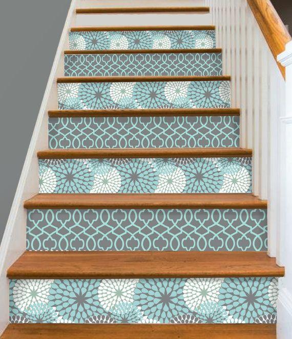 Painting Vinyl Floors Ricochet And Away I Painted: Stair Riser Sticker Strips Removable Vinyl Peel & Stick