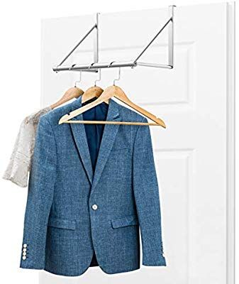 Amazon Com Bextsware Over The Door Closet Rod Heavy Duty Over The Door Hanger Clothes Organizer R Dorm Room Storage Clothes Organization Over The Door Hanger