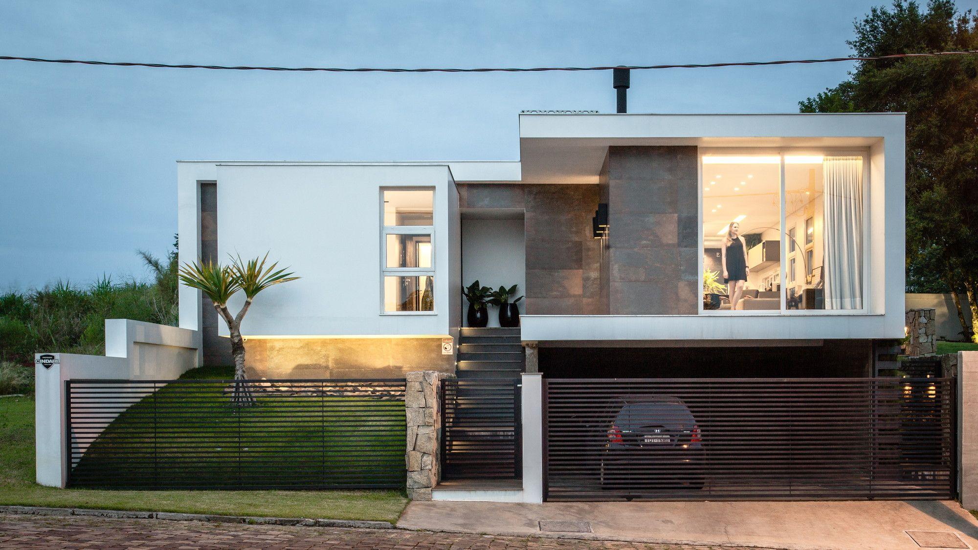 Casa id cadi arquitetura fachadas mic arquitetura for Decoracion de casas brasilenas