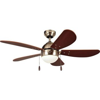 Litex paxon 42 ceiling fan satin nickel finish