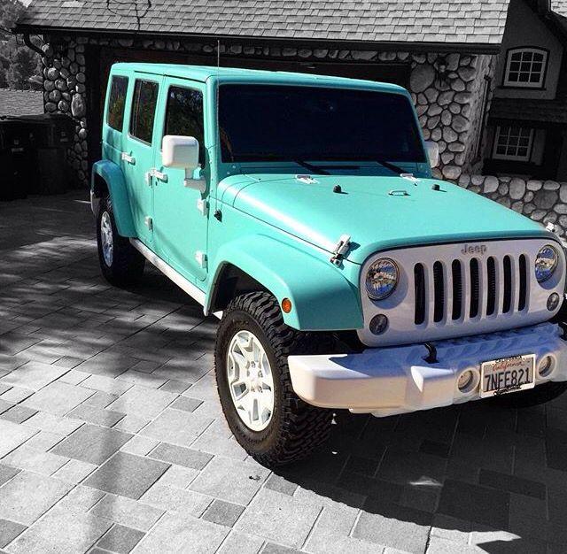 Custom Matte Tiffany Blue Jeep Blue Jeep Jeep Jeep Cars