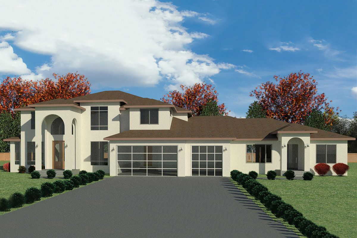 Plan 666093raf European Style House Plan With 2 Bedroom Adu Attached In 2020 House Plans In Law House Architectural Design House Plans
