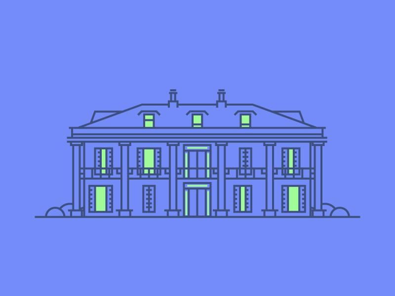 Colonial House by Razvan Vezeteu #Design Popular #Dribbble #shots