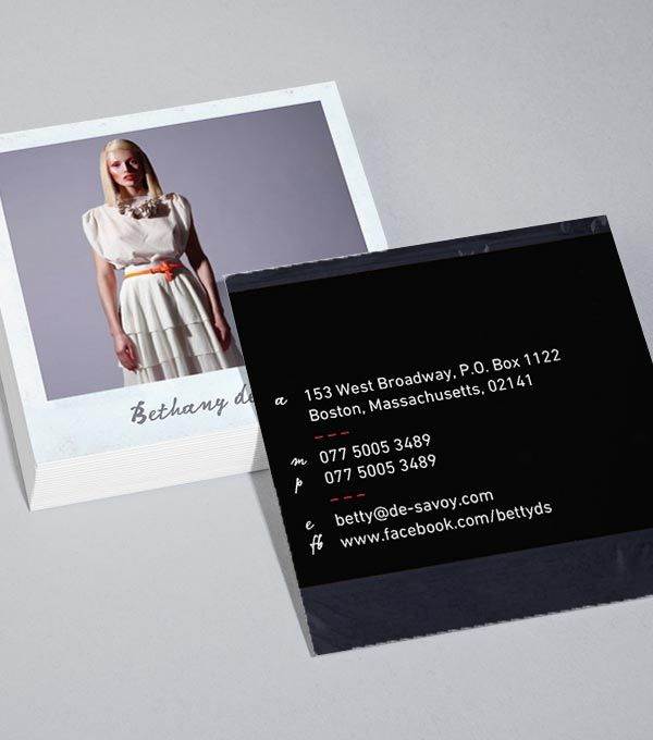 Designvorlagen Für Quadratische Luxe Visitenkarten