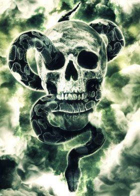 snake skull skulls dark mark hp voldemort book novel film