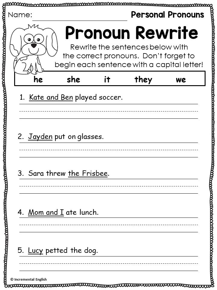 Pronouns Worksheets Pronoun Worksheets Learn English Words Teaching Nouns