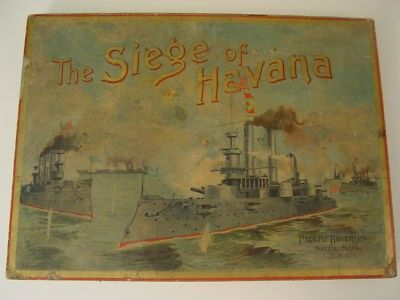 RARE! THE SIEGE OF HAVANA BOARD GAME-PARKER BROS 1898 (07/14/2011)