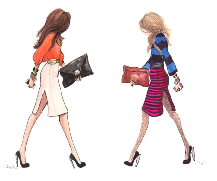 Inslee Haynes Fahion Illustrations 1 600x500 Trendy Street