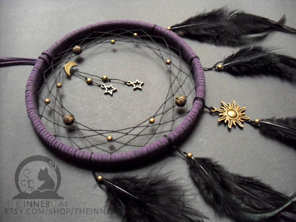 TheInnerCat's Midnight Universe Dream Catcher Sold but more to come --> www.etsy.com/shop/theinnercat The Universe dream catchers are TheInnerCat's special. Check out our other Universe Dream Ca...