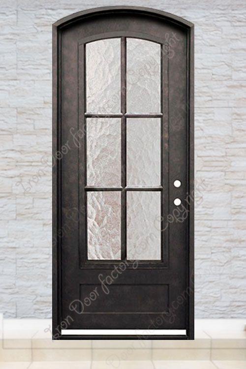 Exterior Iron Doors Single S1045 Puertas De Cristal Puerta Reja Puertas
