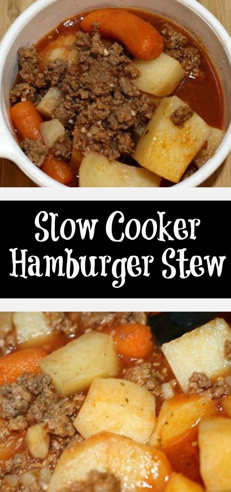 Slow Cooker Hamburger Stew Recipe