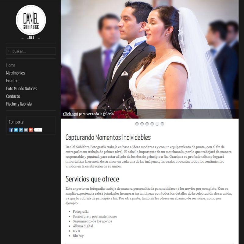 Mi sitio web de fotografía de bodas www.danielsubiabre.net
