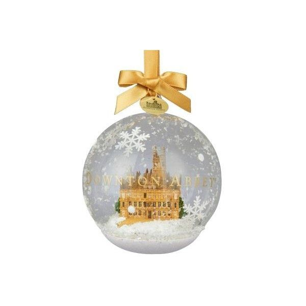 Kurt Adler Downtown Abbey Castle In Glass Ornament ($18) ❤ liked on Polyvore featuring home, home decor, holiday decorations, no color, kurt adler, glass home decor, glass ornaments, kurt adler ornaments and glass ball ornaments