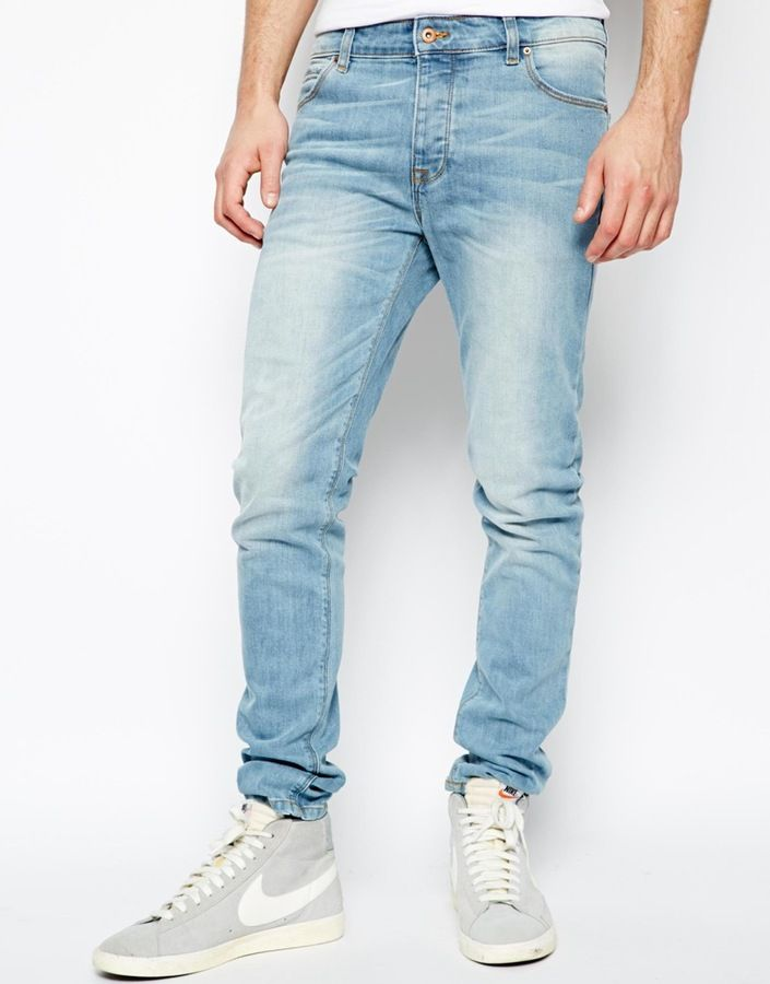 Pin by Lookastic on Jeans  Light blue skinny jeans Light
