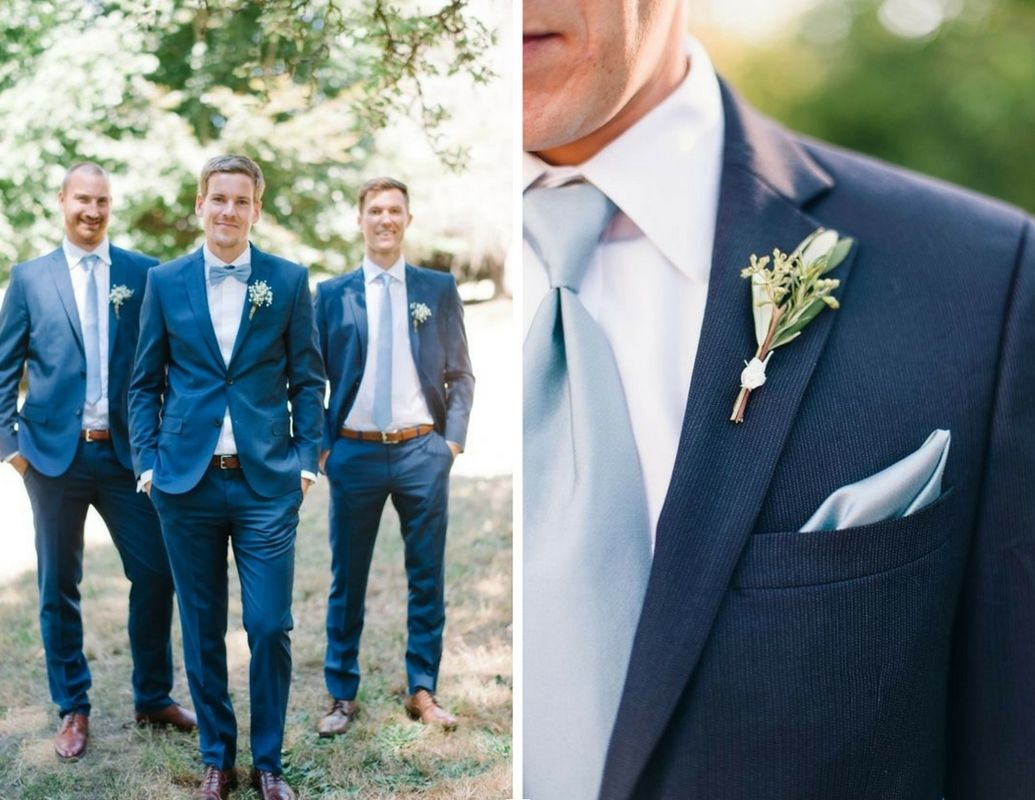 Dusty Blue Groomsmen and Groom Suits - Pantone Fashion Colour Of ...
