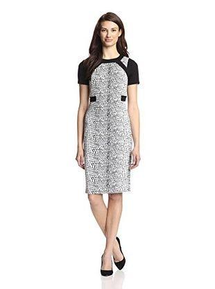 bc4b8f3cf540 Ivy & Blu Women's Snake Textured Midi Dress (Black/White) | Shirts I ...