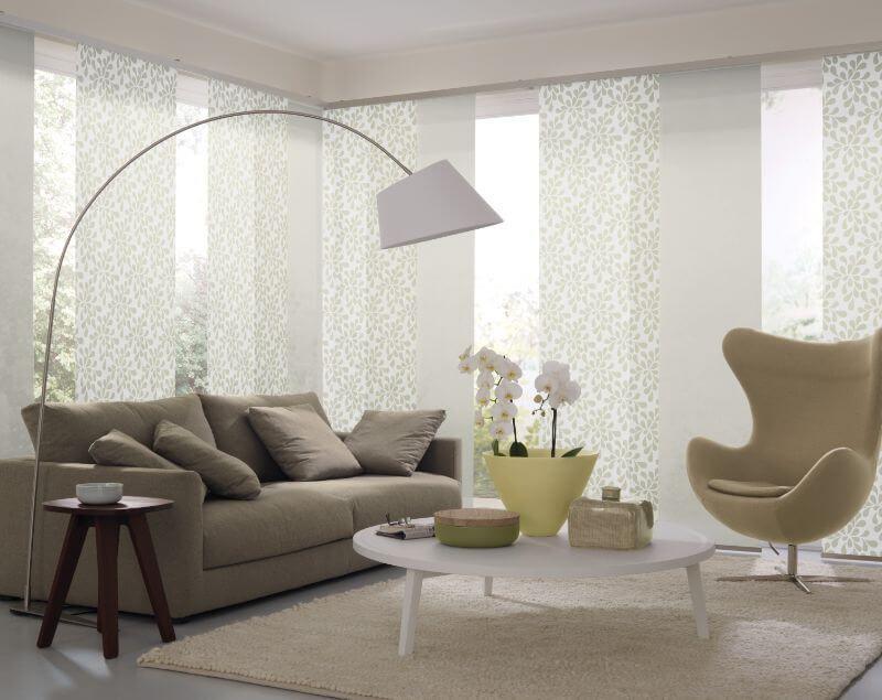 Flächenvorhänge Modern wohnzimmer flaechenvorhang tuerkis vielfältige plissees