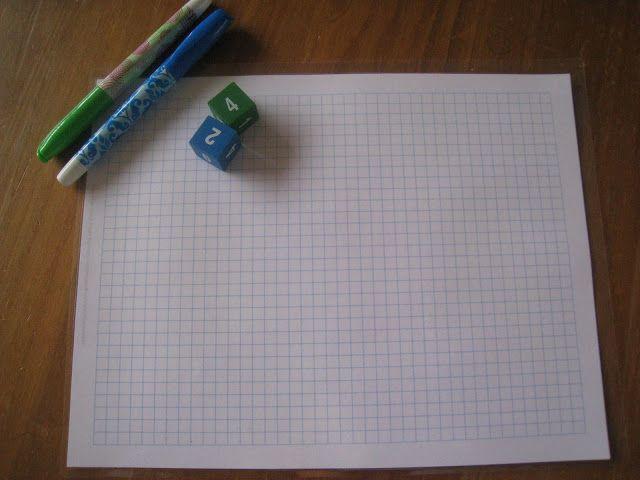 Graph Paper Multiplication Game, Teach Beside Me