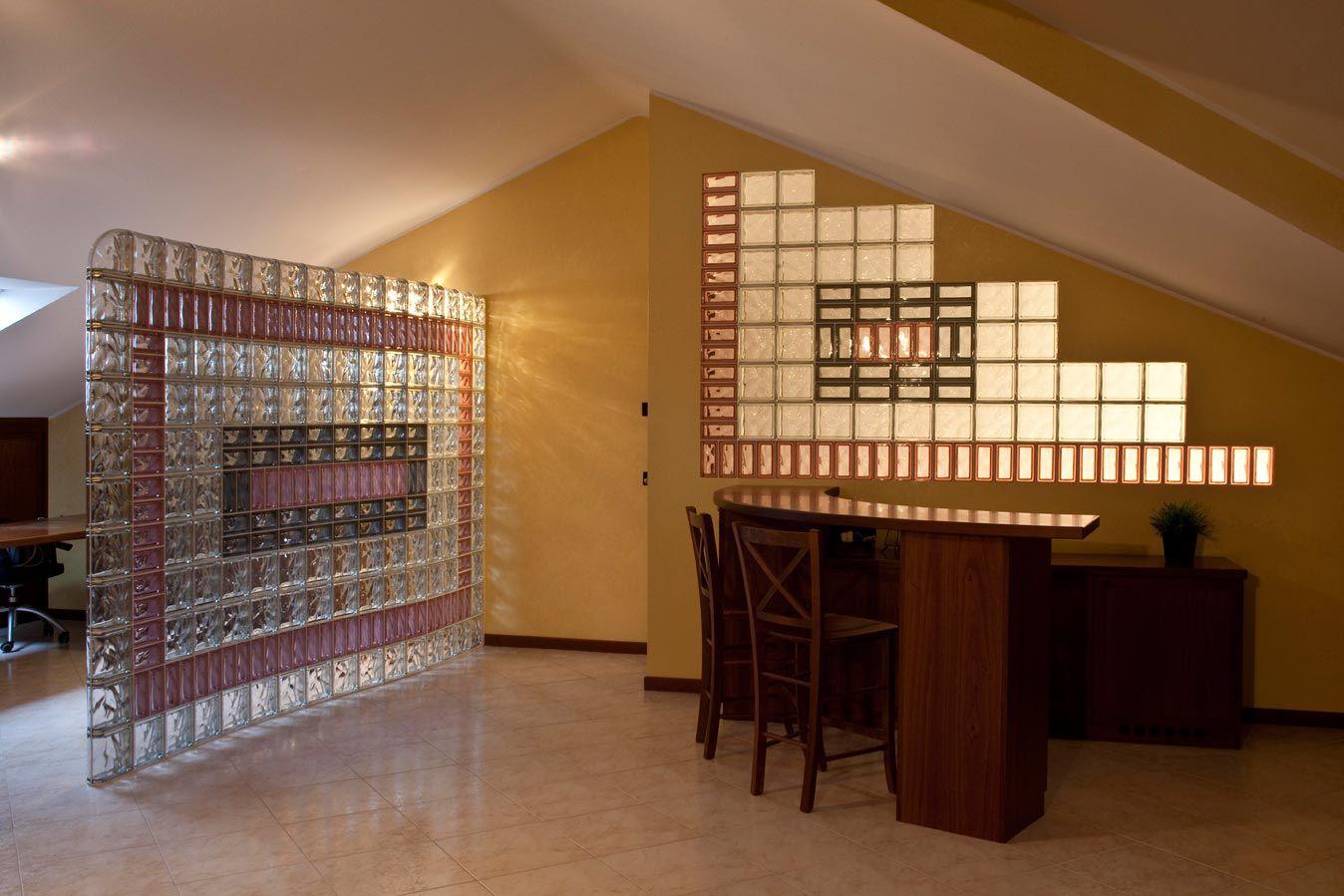 glass block furniture. Glass Block Partition Wall . Furniture