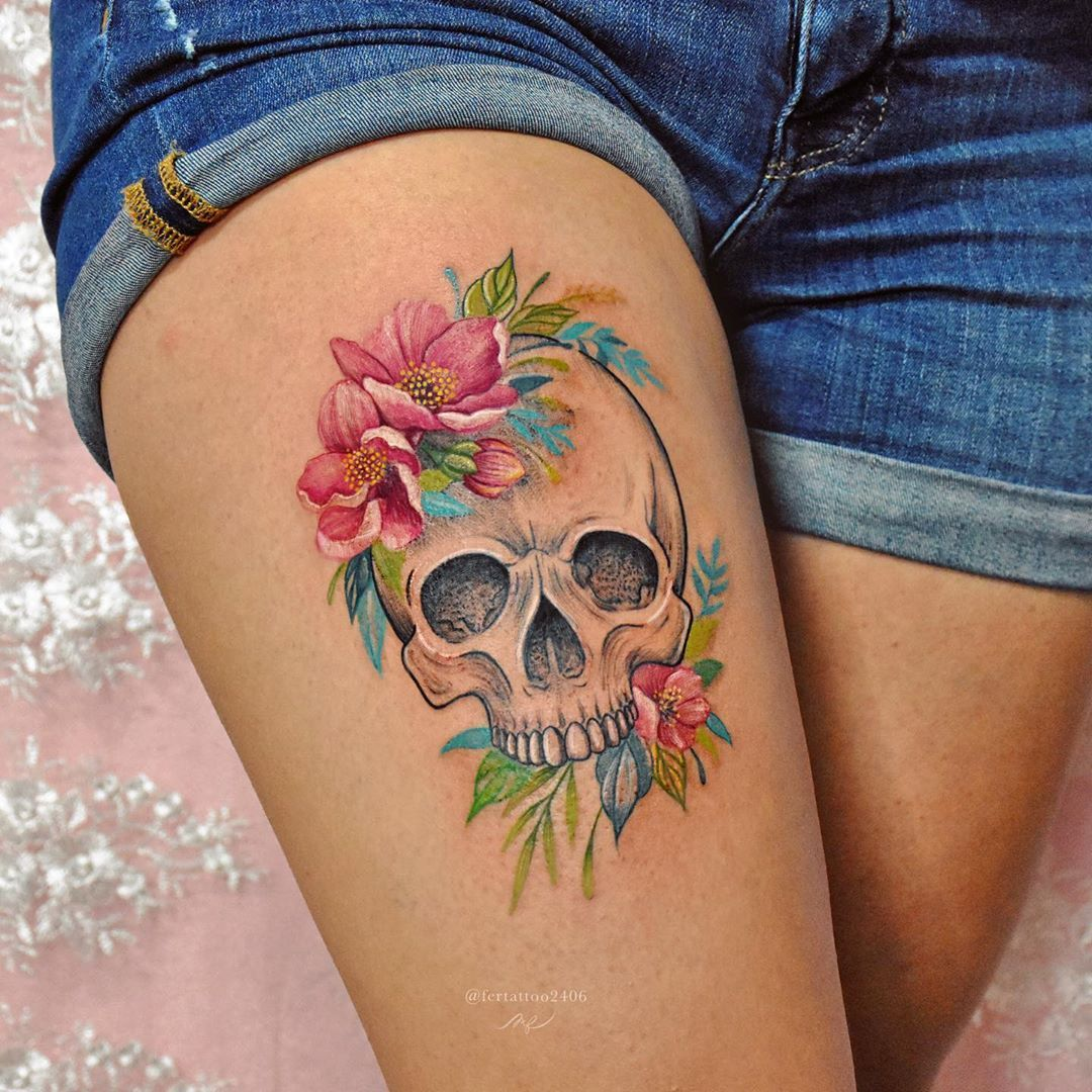 Pin En Calaveras Tatuajes