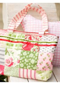 Free sewing pattern, patchwork, sewing ideas, motifs    Patchwork shopping bag