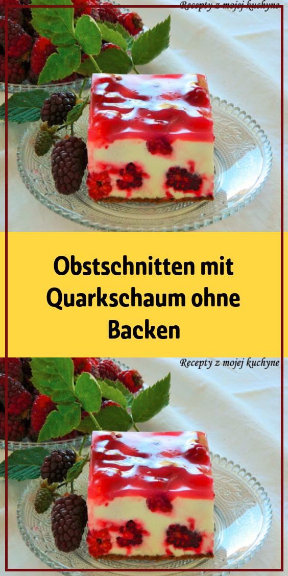 Obstschnitten mit Quarkschaum ohne Backen #löffelbiskuitrezept