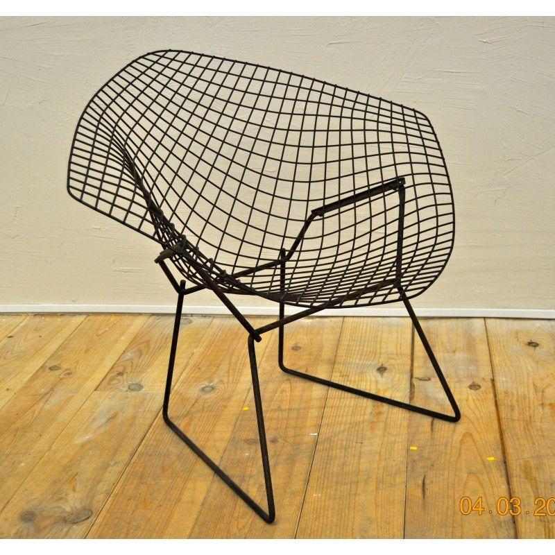 Fauteuil Diamond Chair 421 Harry Bertoia Années 50 Intr Des