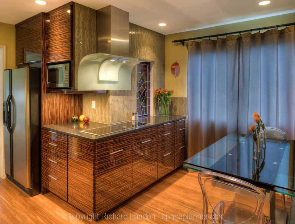 zebra wood kitchen cabinets - Google Search | Wood kitchen ...