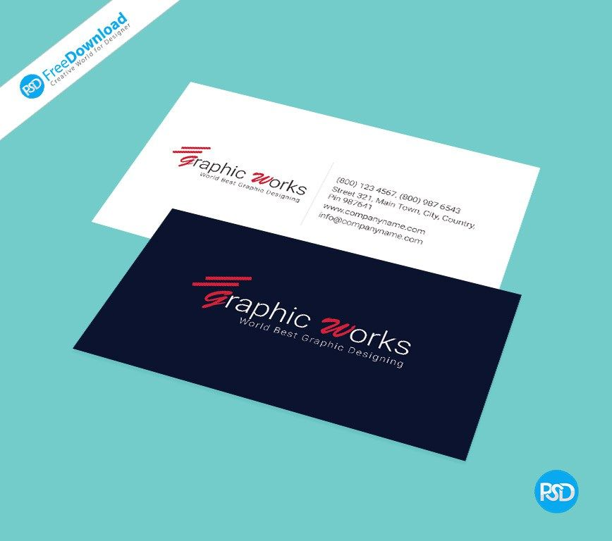 Business Card PSD Free Template. Layered PSD file you can easily ...