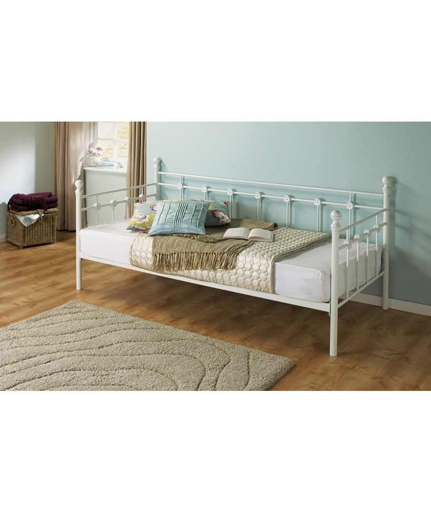 Best Buy Argos Home Abigail Single Metal Day Bed Frame White 400 x 300