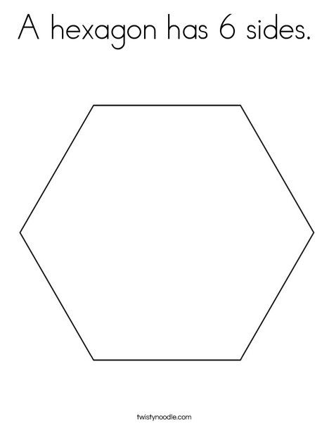 A Hexagon Has 6 Sides Coloring Page From Twistynoodle Com Day 6