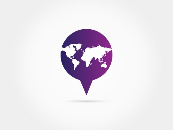 World map in pointer logo by graphicsauthor logo inspiration world map in pointer logo gumiabroncs Images