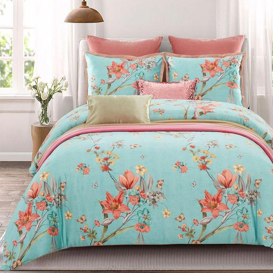 Matching Bedding And Curtains Favouritebedlinenideas Id 3177564342 Aquabedding Bed Comforter Sets Bed Matching Bedding And Curtains