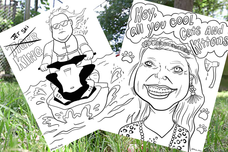 Free Netflix Tiger King Coloring Pages And Activities Coloring Pages Color Activities